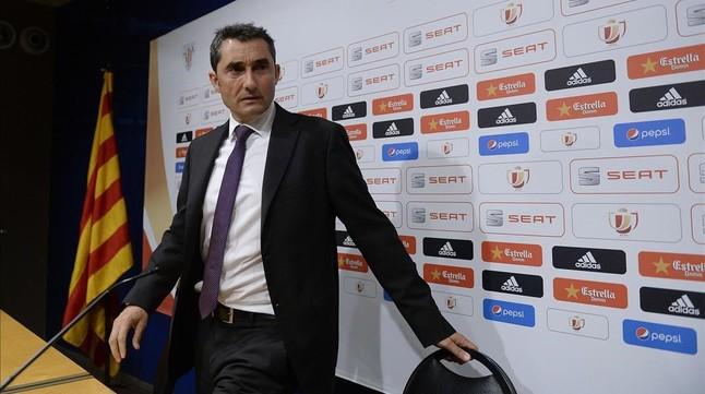 Valverde recuerda que el Athletic ya batió al Barça en la Supercopa