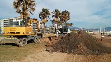 Inician los trabajos para reparar el colector de Llevant, en Badalona