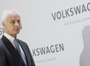El presidente de Volkswagen, Matthias M�ller, en la presentaci�n de los resultados en Wolfsburg.
