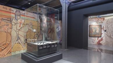 Una cota de malla, en la exposición 'Templers' del Museu d'Història de Catalunya.