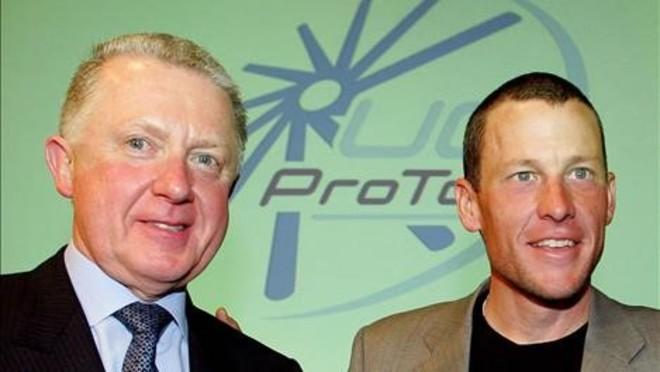 Verbruggen con Lance Armstrong en 2005