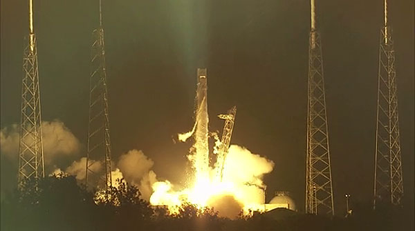 El despegue del 'Falcon 9'