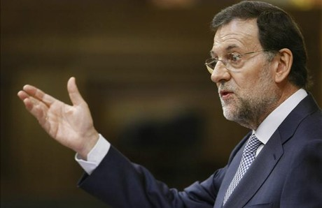 Mariano Rajoy, durante su comparecencia en el Congreso, este mircoles.