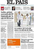 La portada de 'El Pa�s'.
