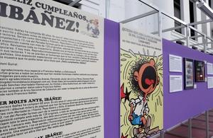 Uno de los paneles de la exposición de homenaje a Ibáñez en el Salón del Cómic.