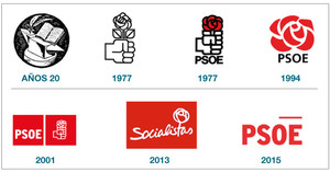 evolucion logo psoe