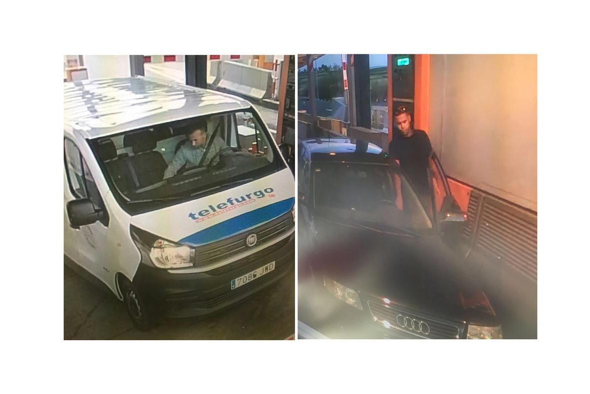 Dos yihadistas con la furgonetay el Audi usados en los atentadosde BCN y Cambrils, captados justo unasemana antes en el peaje de Cambrils.
