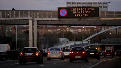 Madrid activa, de nou, restriccions de trànsit a causa de l'alta contaminació