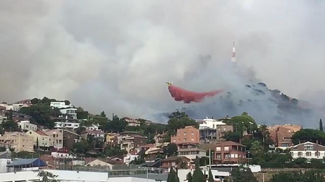 Segon incendi en pocs dies a Collserola.