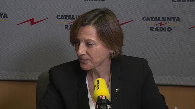 "Declaraciones de Carme Forcadell a Catalunya R�dio: ""No dimitir� por haber cumplido mis funciones""."