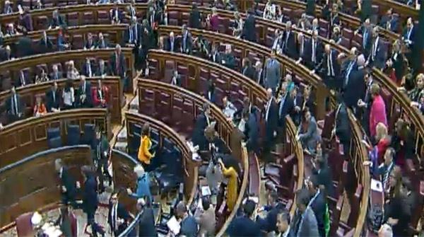 Última votación de la sesión del 31 de octubre del Congreso de los Diputados. ATLAS