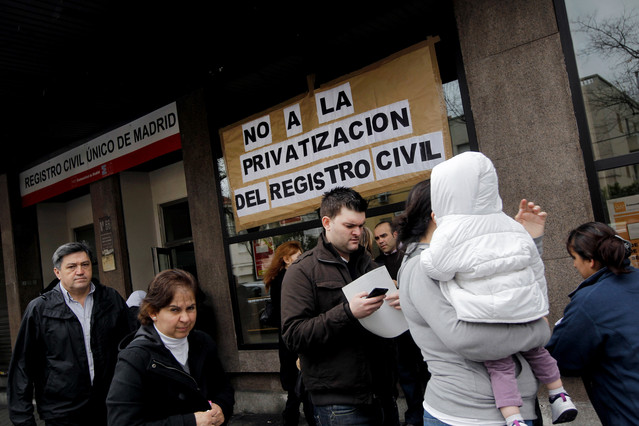 Guerra en el Registro Civil