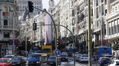 El cierre al tráfico a no residentes en la Gran Vía de Madrid llegará en junio
