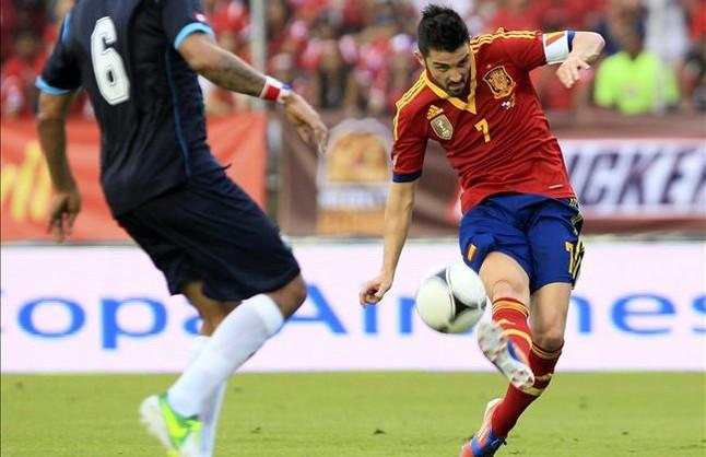 Messi y Villa se quedan en el gimnasio