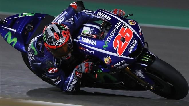 Maverick Viñales (Yamaha) también ha logrado hoy, en Catar, el mejor tiempo de los primeros ensayos oficiales del GP.