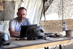 El periodista Marc Marginedas a la base canadenca de Patricia a Nakhonay, a l'Afganistan, l'octubre del 2010.