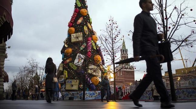 Mosc� cierra por vez primera la Plaza Roja para las celebraciones de Nochevieja