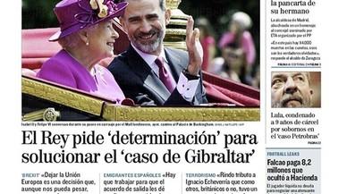 El Rei demana diàleg sobre Gibraltar a Londres, diu el quiosc