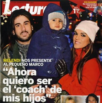 Melendi y su familia son las estrellas de las portada de las revistas del corazón