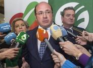 El presidente de Murcia, Pedro Antonio Sánchez, este lunes.