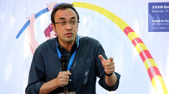 El coordinador general de Converg�ncia, Josep Rull, reta a los candidatos del 'no' a convencer a los catalanes y que se olviden del miedo y las amenazas.