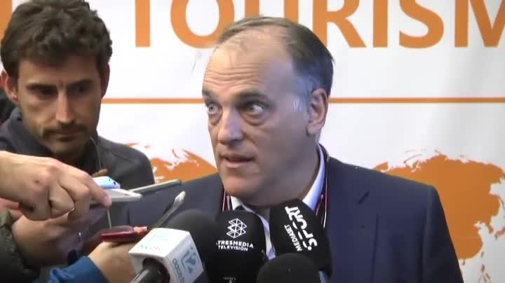 El máximo dirigente de la LFP no se da por aludido de las recriminaciones del central barcelonista