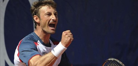 Juan Carlos Ferrero, en accin.