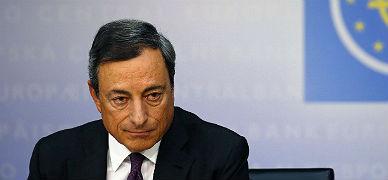Mario Draghi, presidente del BCE, durante una rueda de prensa en Fr�ncfort.