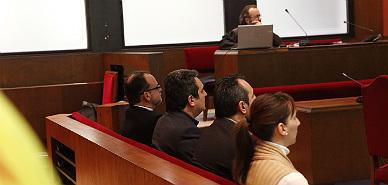 El exalcalde de Sabadell Manuel Bustos, a su llegada al TSJC.