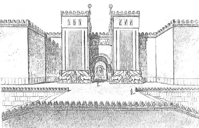 Recreación de la antigua ciudad amurallada deDur Sharrukin.