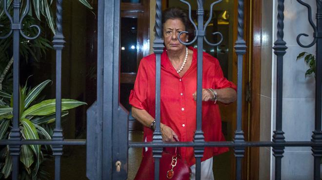 Primeras imágenes de Rita Barberá tras dejar el PP