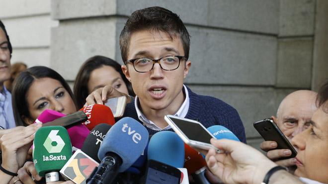 """Errej�n pide prudencia para no ser """"encerrados"""" en un debate de """"capuchas"""" el d�a de la investidura"""