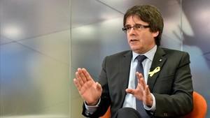 Carles Puigdemont, en una entrevista el pasado 23 de diciembre.