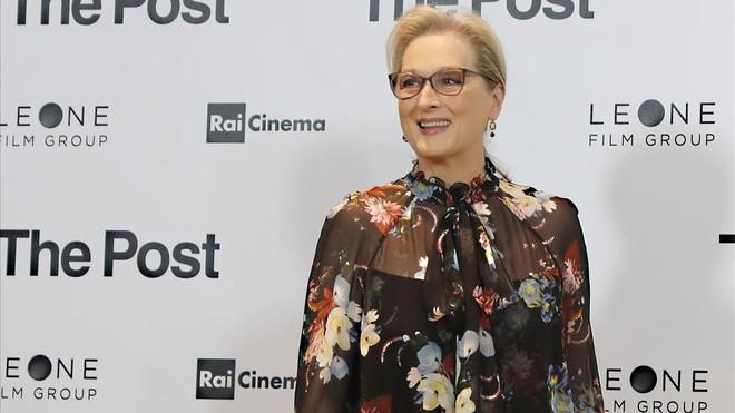 Meryl Streep, el pasado lunes en Milán, en la presentación de Los archivos del Pentágono