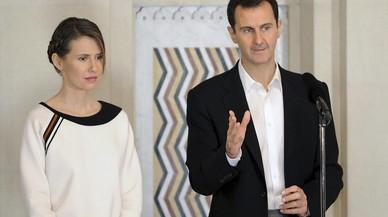 Asma al Asad, junto a su esposo, Bashar.