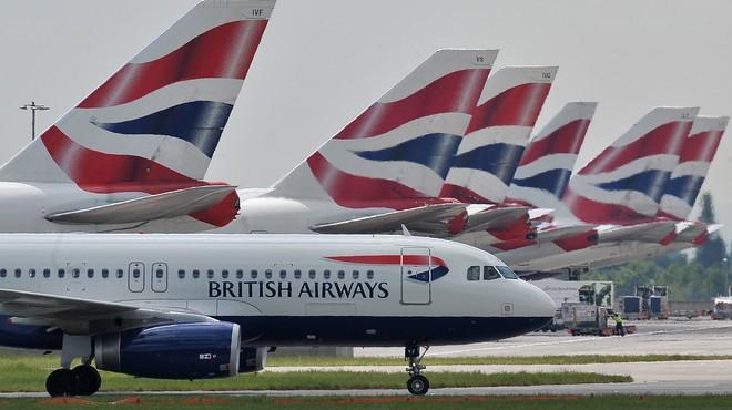 Aviones de British Airways en el aeropuerto de Heathrow.