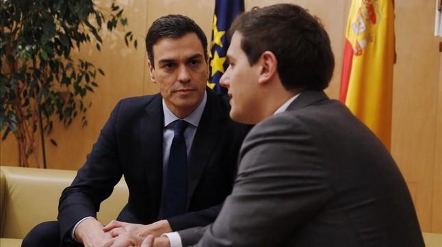 Sánchez y Rivera se reúnen en secreto