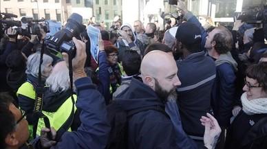 Josep Garganté llega a la Ciutat de la Justícia.
