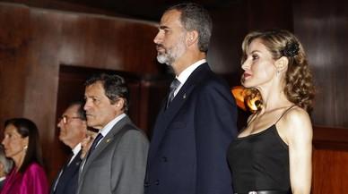 Letizia estrena 'look' la vigília dels Princesa d'Astúries