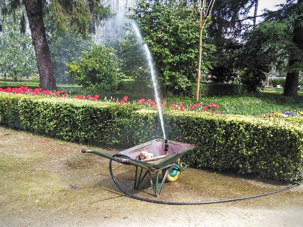 El ingenio de los jardineros del parque de la Devesa de Girona