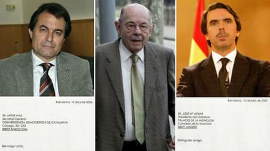 Quan Millet convidava Mas i Aznar a casa seva a Menorca