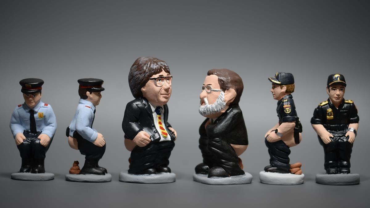 Representación deCarles Puigdemont yMariano Rajoy.