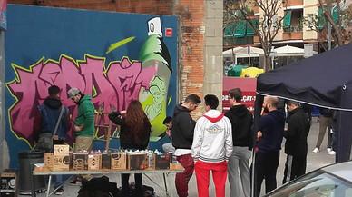 Gavà estrena su segundo muro libre para grafitis