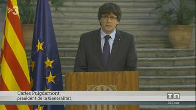 """La junta electoral prohibeix a TV-3 dir que Puigdemont i els consellers cessats són el """"Govern a l'exili"""""""