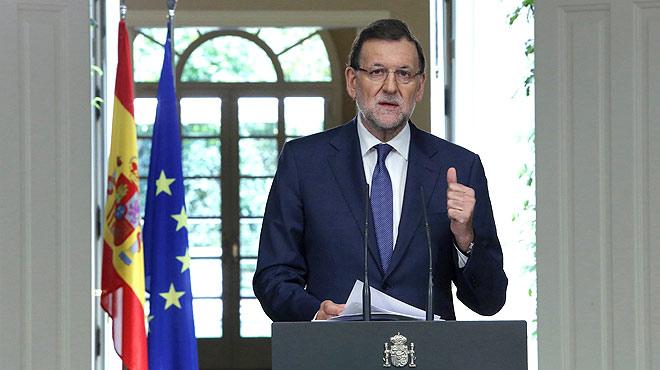 """""""El Gobierno va a defender el cumplimiento de la ley"""", ha advertido el jefe del Ajecutivo al 'president' Mas."""