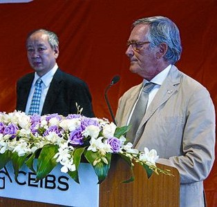 Xavier Trias, ayer, en la escuela de negocios CEIBS de Shanghi.
