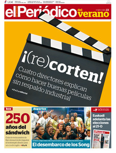 Portada de EL PERIDICO DEL VERANO.