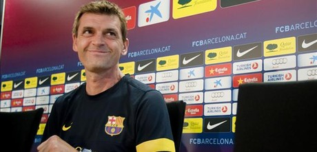 Tito Vilanova, en la rueda de prensa.
