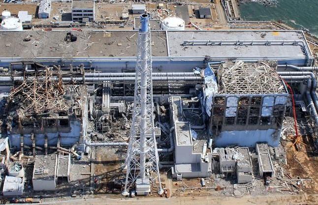 Central nuclear de Fukushima, tras el accidente de marzo del 2011.