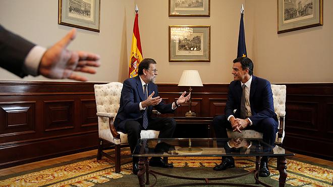 Reuni�n de Mariano Rajoy y Pedro S�nchez en el Congreso